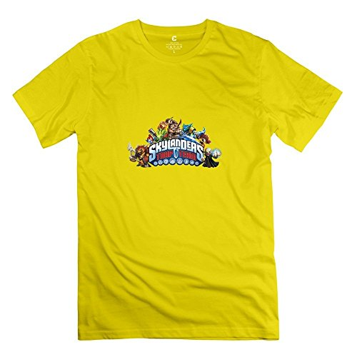 Skylanders Trap Team Religion Short Sleeve Yellow T Shirts For Adult Size XXL (Trap House Lil Wayne compare prices)