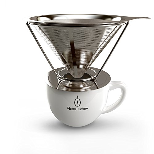 Coffee Dripper Stainless Steel By Marvellissimo - Reusable Pour Over Filter Cone eBay