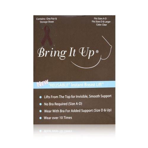 Bring It Up Reusable Instant Breast Lift 1 Pair : Size A-D (Clear)