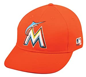 NEW 2013 Miami Marlins Cap (ORANGE ROAD, CF2 Visor Flat or Curved) MLB Adjustable... by Team MLB - Authentic Sports Shop