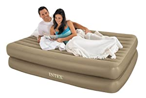 Intex Self Inflating Air Bed with Tethered Remote, Queen