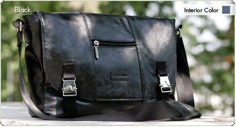 Namaste Black Mini Messenger Knitting Project Shoulder Bag from Namaste