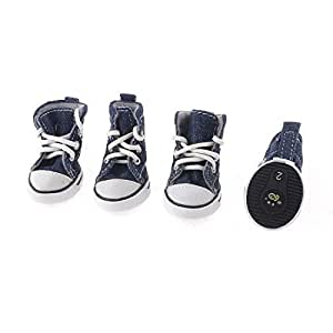 Azul marino Correr suela de goma Zapatillas Zapatos XS : Pet Supplies