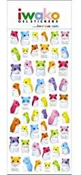 Hamster Gel Stickers. 52 Stickers Per Pack. 2 Pack.