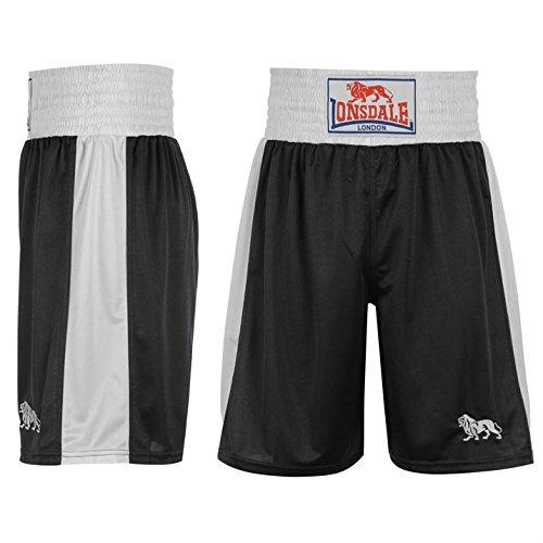 Lonsdale-Pantaloncini da allenamento, da boxe Pantaloni sportivi Gym Wear nero/bianco medium