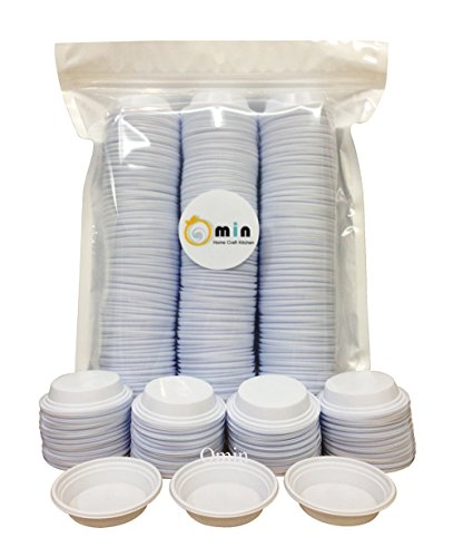 Omin Brand White Plastic Diposable Dipping Sauce Dishes Dia 2.5 Inch Pack of 300 (Soy Sauce Lid compare prices)