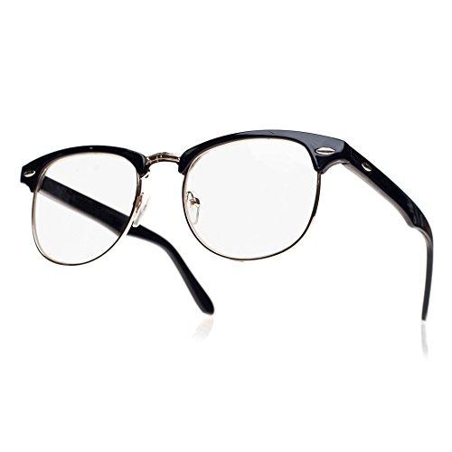 unisex-wayfarer-occhiali-uomo-dona-lenti-trasparenti-con-montatura-retro-vintage-nerd-festa-party-