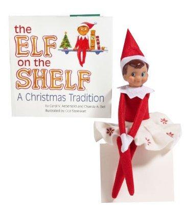 The Elf on the Shelf- Blue-eyed Girl Elf - Book