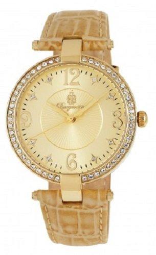 Burgmeister BM518-270 - Reloj analógico de mujer de cuarzo con correa de piel beige - sumergible a 30 metros