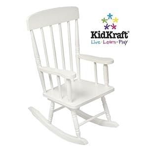 KidKraft Kids Wood Spindle Rocking Chair - White | 18301 by KidKraft