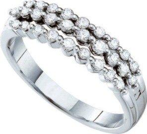 14kt White Gold Wedding Band 13 Elegant k White Gold Round