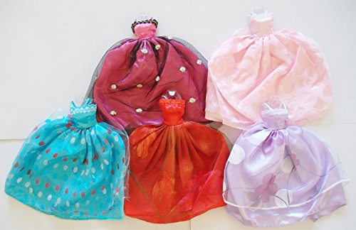 5 Dresses Gowns For Barbie ~Fairy Tail Princess Collection~ #B2