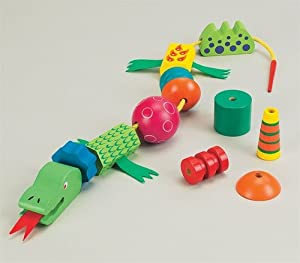 Ryan's Room Wooden Toys Lace 'Em Up Dragon