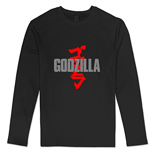 [AOPO Men's Long Sleeve Godzilla Shirt Medium Black] (Anguirus Costume)