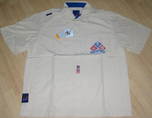 Akademiks Mens Casual Short Sleeved Shirt Stone XL
