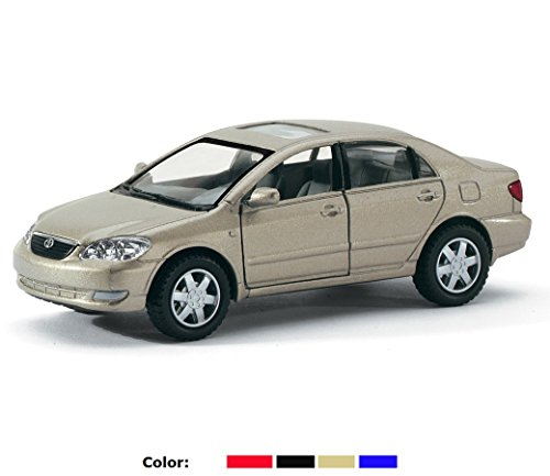 Set of 4: Toyota Corolla 1:36 Scale (Red, Badge, Blue, Black) - 1