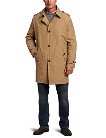 Tommy Hilfiger Men's Trench Coat with Zip Out Lining, Navy, Large at