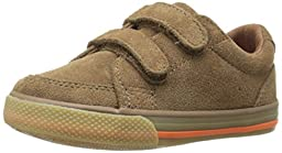 Hanna Andersson Leo Boys Suede Sneaker (Infant/Toddler), Brown, 5 M US Toddler