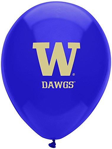 "Pioneer Balloon Company 10 Count University of Washington Latex Balloon, 11"", Multicolor"