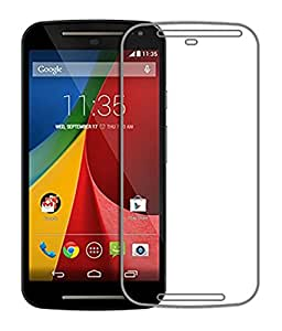 Motorola Moto G (2nd Gen) Compatible Tempered Glass Screen Protector (Antishock, Curved Edged) (Pack of 2, Only Front Transparent) (Combo Offer, get a VJOY 7800 mAh Power-Bank PINK) (1 Year Replacement Guarantee, Li-ion Battery, Long Battery-Life) worth Rupee 2100/- absolutely free with Screen Protector)