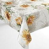 "Croft and Barrow Fabric Sunflower Tablecloth - 60"" X 102"" Oblong"