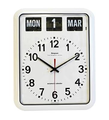 White 'Perpetual' Calendar Clock - G239A