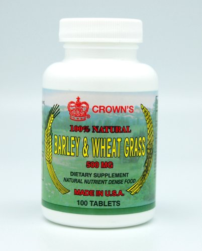 Barley and Wheat Grass  500 mg 100 tabs
