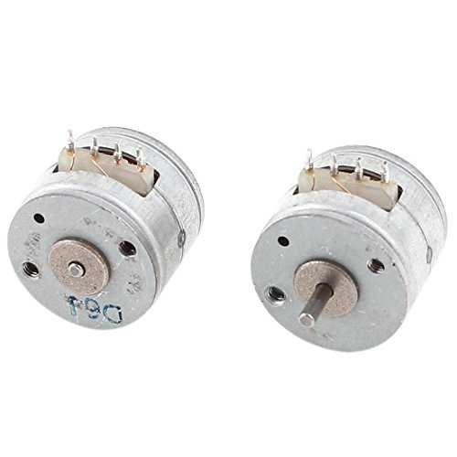 2Pcs 1000RPM Two Phase Four Wire 15mm Metal Stepper Motor Silver Tone from uxcell