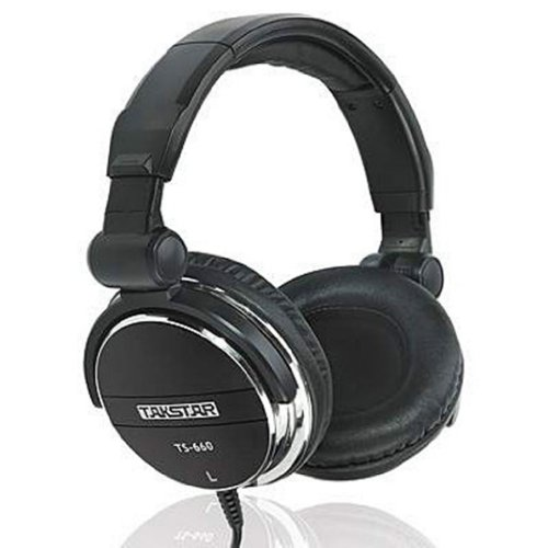 Blue Melody Best Dj Studio Monitor Monitoring Pro Professional Mtv Stereo Wired Long Cord Student Style Headphones With Ear Muffs For Music Ts660 Black
