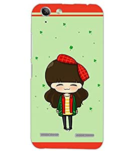 PrintDhaba ANIMO GIRL D-6525 Back Case Cover for LENOVO VIBE K5 (Multi-Coloured)