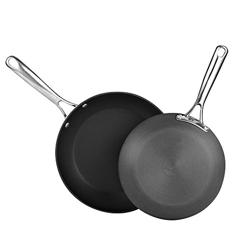 "Cooks Standard 2 Piece Hard Anodize Nonstick Cookware Fry Pan Skillet Saute, 9.5""/11"", Black"