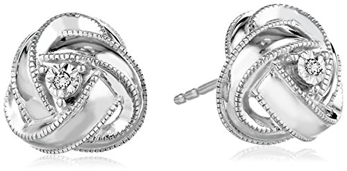 sterling-silver-diamond-accent-knot-stud-earrings