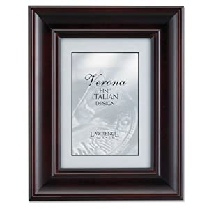 Lawrence Frames Vermont, Esspresso Wood 5 by 7 Picture Frame