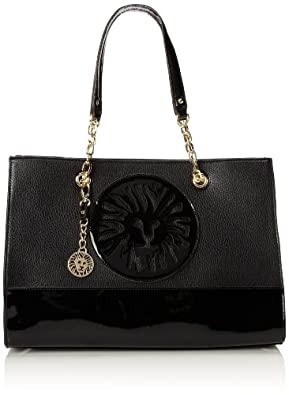 Anne Klein Leo Legacy III Large 60291644 Travel Tote Handbag,Black/Black,One Size