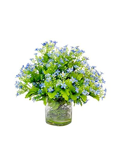 Creative Displays Flowering Gypso Pot, Blue/Green