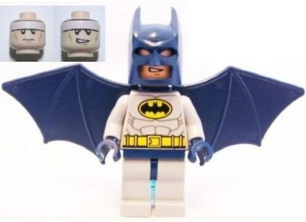 Batman - Lego Batman Minifigure (Blue Suit) with Glider Wings and Turbo Jet Backpack Assembly (Loose) at Gotham City Store