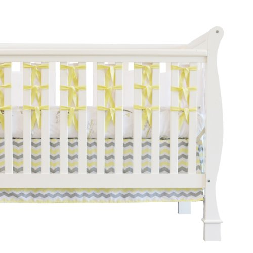 Oliver B 3 Piece City Of Dreams Crib Bedding Set, Yellow/Grey/White