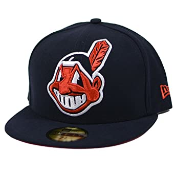 Cleveland Indians New Era Swelled Up MLB 5950 Fitted Hat by New Era