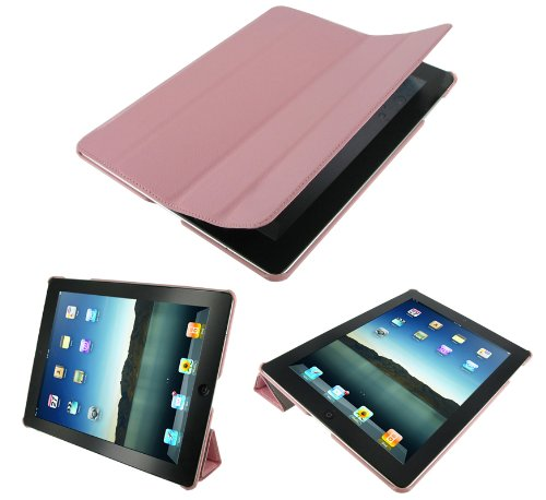 rooCASE Ultra Slim (Pink) Leather Smart Case with Stand for Apple iPad 2 Wifi / 3G Model 16GB, 32GB, 64GB