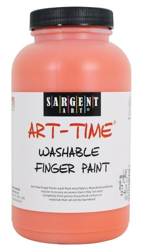 Sargent Art 22-9414 16-Ounce Art Time Washable Finger Paint, Orange - 1