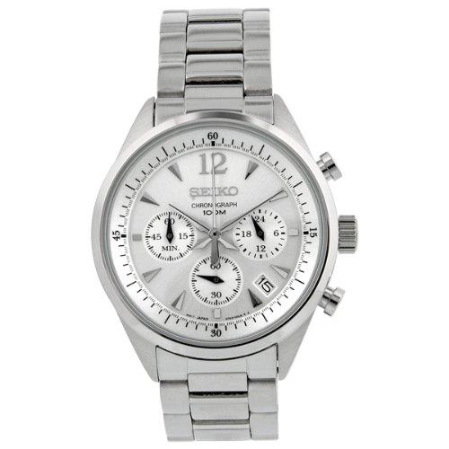 Seiko Ssb065P1 Chronograph Silver Dial Mens Watch