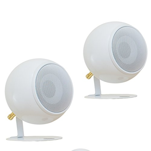 Orb Audio Mod1X Speakers in Pearl White Gloss