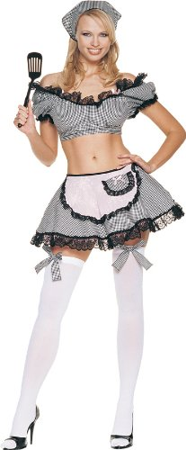 Naughty Housewife Sexy Womens Adult Costume Medium-Large