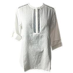 AC Women's Cotton Kurti (H13_White_Small)