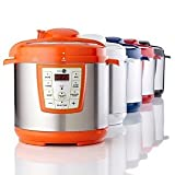 Greenpan premier pressure cooker with the power of thermolon orange