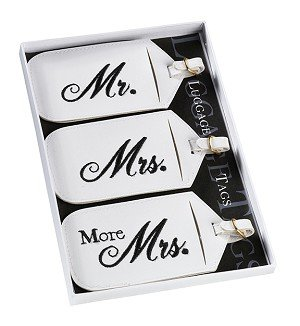 Mr & Mrs Luggage Tags by Kressies Wedding Accessories