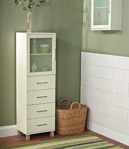 This Frosted Pane Cabinet Is Great for Smaller Bathrooms. Use It As an Auxiliary Medicine Cabinet or for Storage. It Also Works Well in Laundry Rooms and for Sewing Kit Storage.