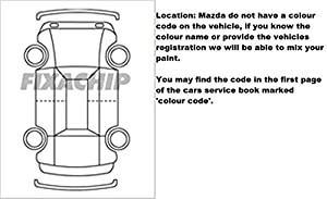 Mazda Car Stone Chip Touch Up Paint With Applicator Brush Mazda Touch Up Paint All Colours & Years Available from fixachip