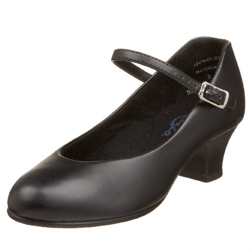 Capezio Jr. Footlight 550X Character Shoe (Little Kid/Big Kid),Black,2 M US Little Kid