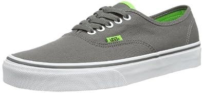 Vans U AUTHENTIC (POP) CHARCOAL VVOEBYO Unisex-Erwachsene Sneaker, Grau ((Pop) charcoal), EU 34.5 (US 3.5)